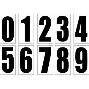 """Stick-on 6"""" number (Black)"""