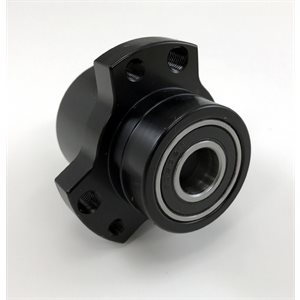 "Front wheel hub, 5 / 8""-3 / 4"", Black (includes hardware)"