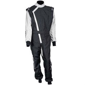 Zamp ZK-40 Adult Kart Race Suit Black / Silver
