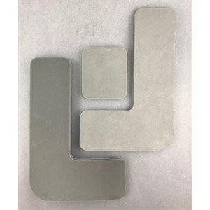 Foam seat padding set (3 pcs) 1 / 2""