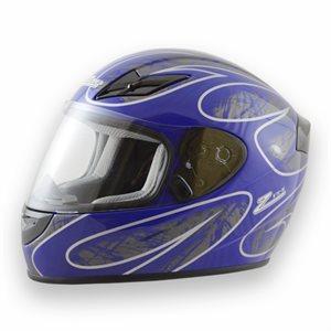 Zamp FS8 Helmet - Blue / Silver Graphic