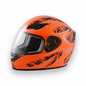 Zamp FS8 Helmet - Orange / Black Graphic