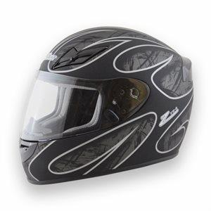 Zamp FS8 Helmet - Silver / Black Graphic