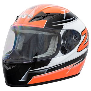 Zamp FS9 Helmet - Orange & Black Graphic