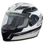 Zamp FS9 Helmet - Silver / Matte Black Graphic